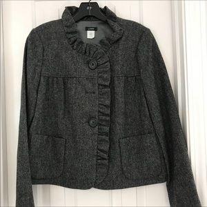 J. Crew tweed blazer charcoal/black size 2
